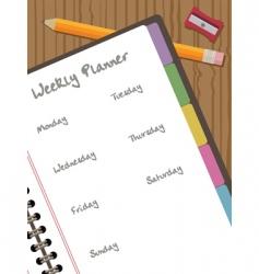 weekly planner vector image
