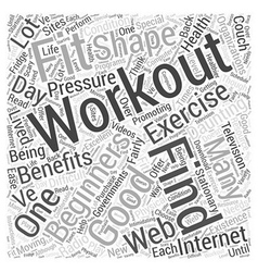 workouts for beginners Word Cloud Concept vector image vector image