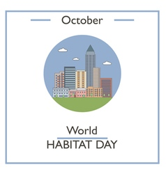 World habitat day vector