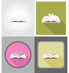 school education flat icons 11 vector image