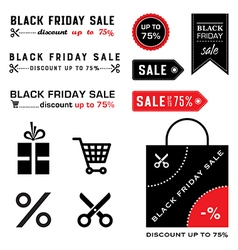 Black friday icons vector