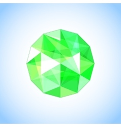 Realistic emerald jewel shaped Gem vector image