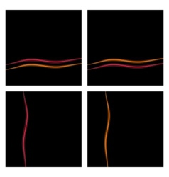Black Background Set With Waves eps10 vector image