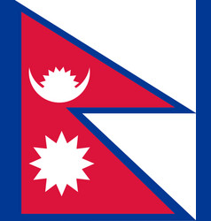 colored flag of nepal vector image