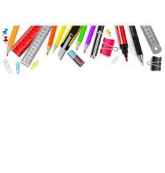 Stationery realistic background vector
