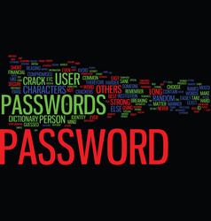 Best passwords text background word cloud concept vector