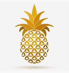 pineapple golden fruit design element tropical vector image