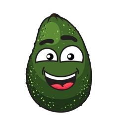 Green tropical avocado fruit vector
