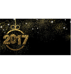2017 background with Christmas ball vector image vector image