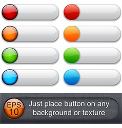 Rounded glossy buttons vector