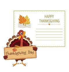 Invitation for thanksgiving vector