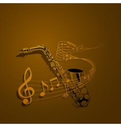 Form of saxophone and notes vector