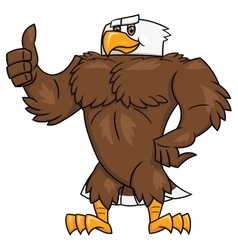 Strong eagle thumb up gesture 2 vector