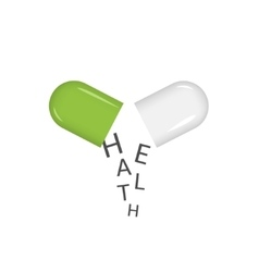 Green pill vector