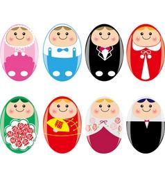 baby eggs vector image vector image