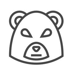 Bear market thin line icon vector