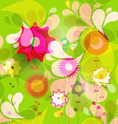 Beautiful Floral Pattern with Nice Fresh vector image vector image