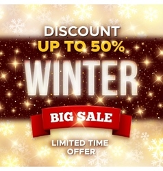 Big winter sale promotion banner template vector