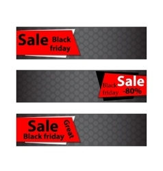 Black friday sale Web banners vector image vector image