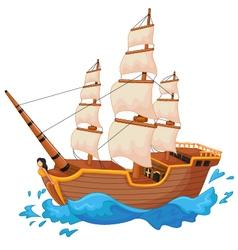 Cartoon ship isolated vector
