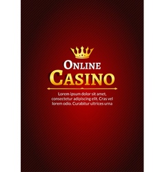 Casino logo template poster Online Casino vector image