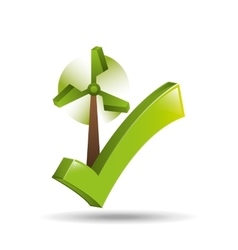 concept ecological icon wind power vector image