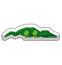 Crocodile low poly style vector