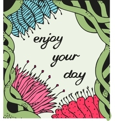 Enjoy your day Vintage background with ancient vector image vector image