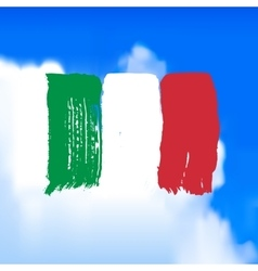 Flag of Italy against the sky vector image vector image