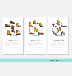 footwear business brochure linear vector image vector image