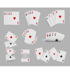 Four aces playing cards set vector image