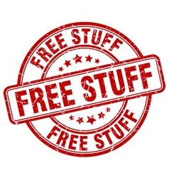 Free stuff red grunge round vintage rubber stamp vector