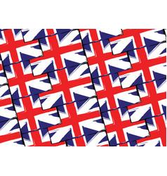 Grunge uk flag or banner vector
