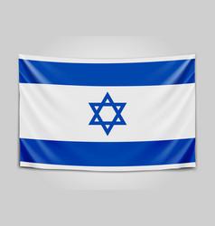 Hanging flag of israel state of israel israeli vector