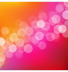 Lights background with bokeh vector