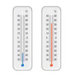Meteorologic alcohol thermometers realistic set vector