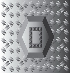 O text aluminium wallpaper vector