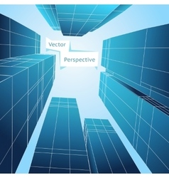 Perspective 3d building Abstract poster vector image vector image