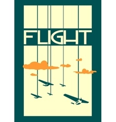retro airplanes flight on striped backdrop vector image vector image