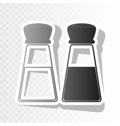 Salt and pepper sign new year blackish vector