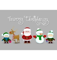 Santa and friends vector