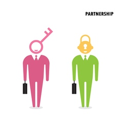 Two businessman with key symbol vector