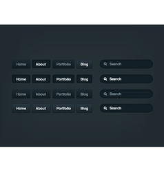 Web menu vector