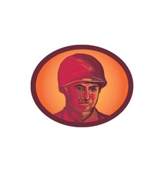 World war two american soldier head watercolor vector