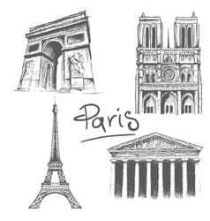 Parisian architecture vector