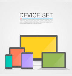 device set flat vector image