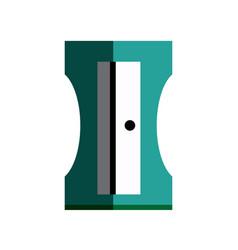 Sharpener stationery plastic material school vector