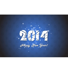 Happy new year 2014 text design vector