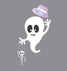 Cute ghost cartoon vector