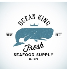 Ocean king seafood supplyer vintage logo vector